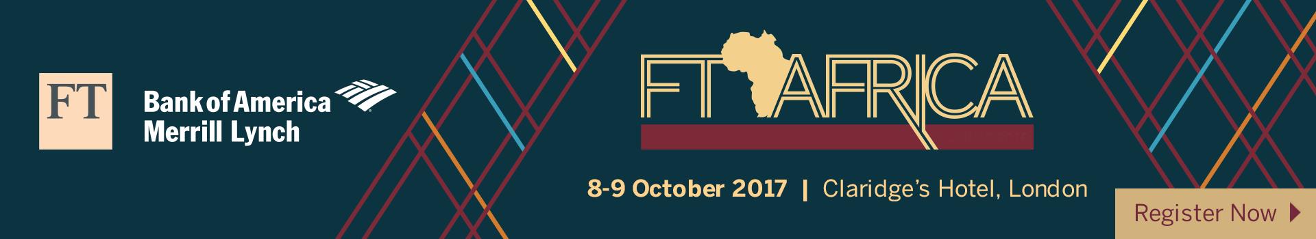 FT Africa Summit 2017 - London - 8 & 9 October